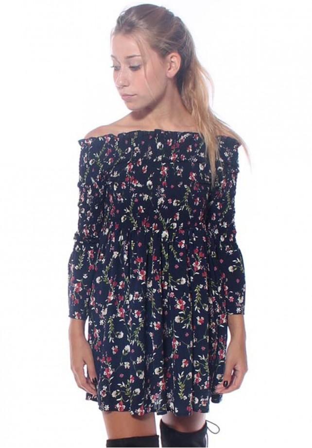 Vestido floral gomas