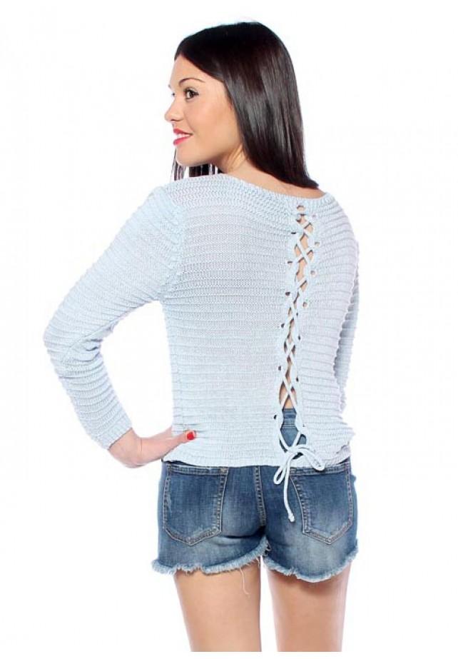 Jersey calado lazo espalda