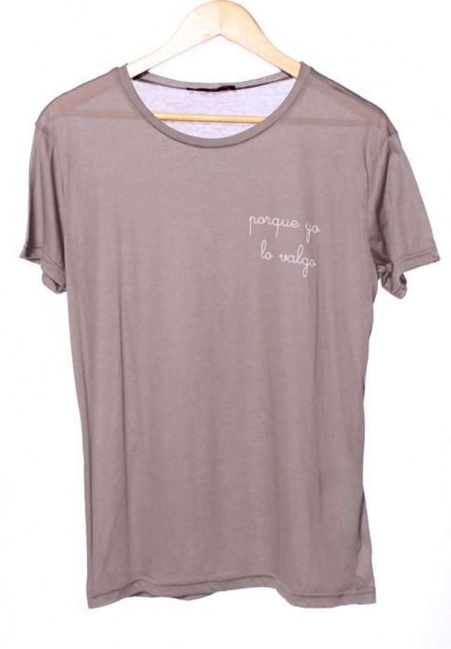 Camiseta porque yo lo valgo