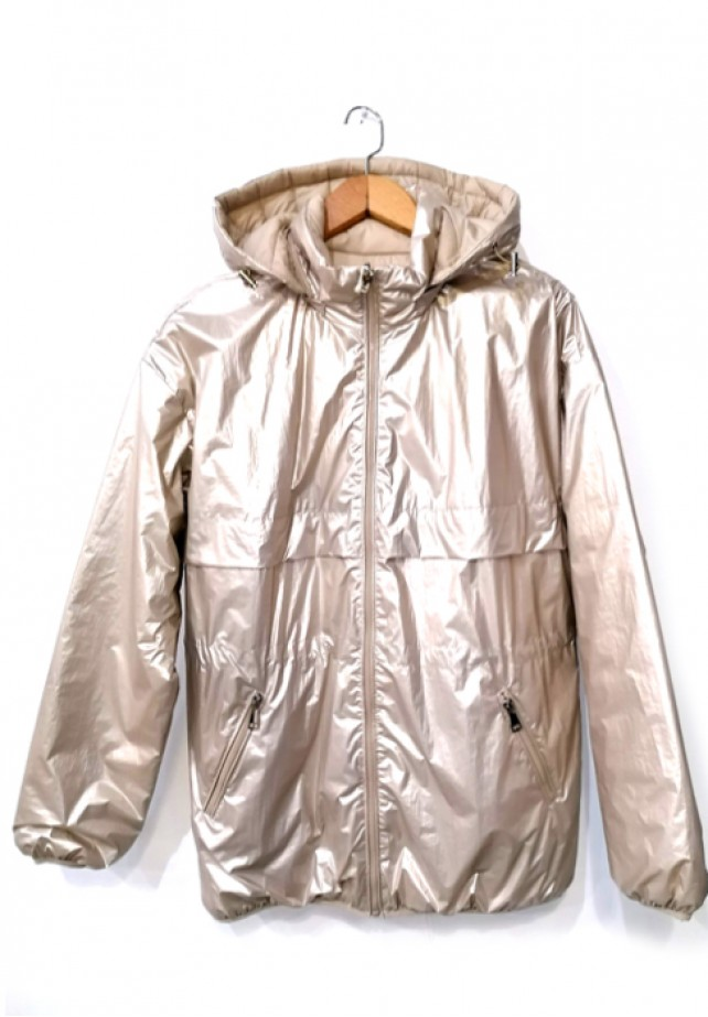 Parka metalizada reversible